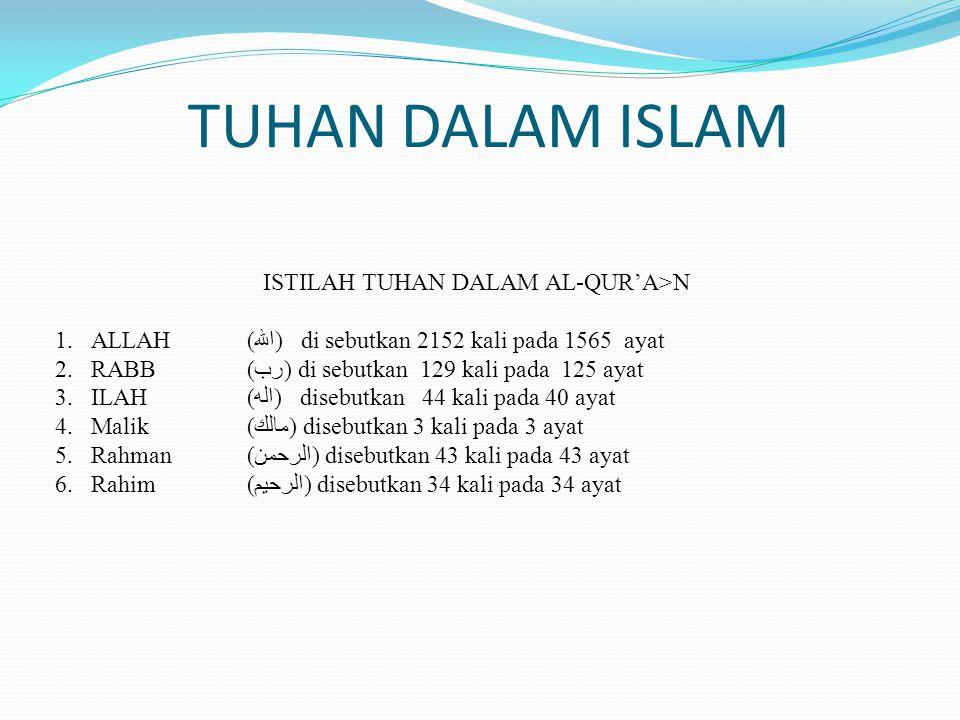 PERHITUNGAN MATEMATIK 1.ALLAH (الله) di sebutkan 2152 kali pada 1565 ayat PERHITUNGAN YANG DISEBUTKAN: 2+1+5+2= 10 PERHITUNGAN JUMLAH AYAT: 1+5+6+5= 17 3+6+11+7=27 2+7= 9 Surat ke 9 adalah surat al-taubah.