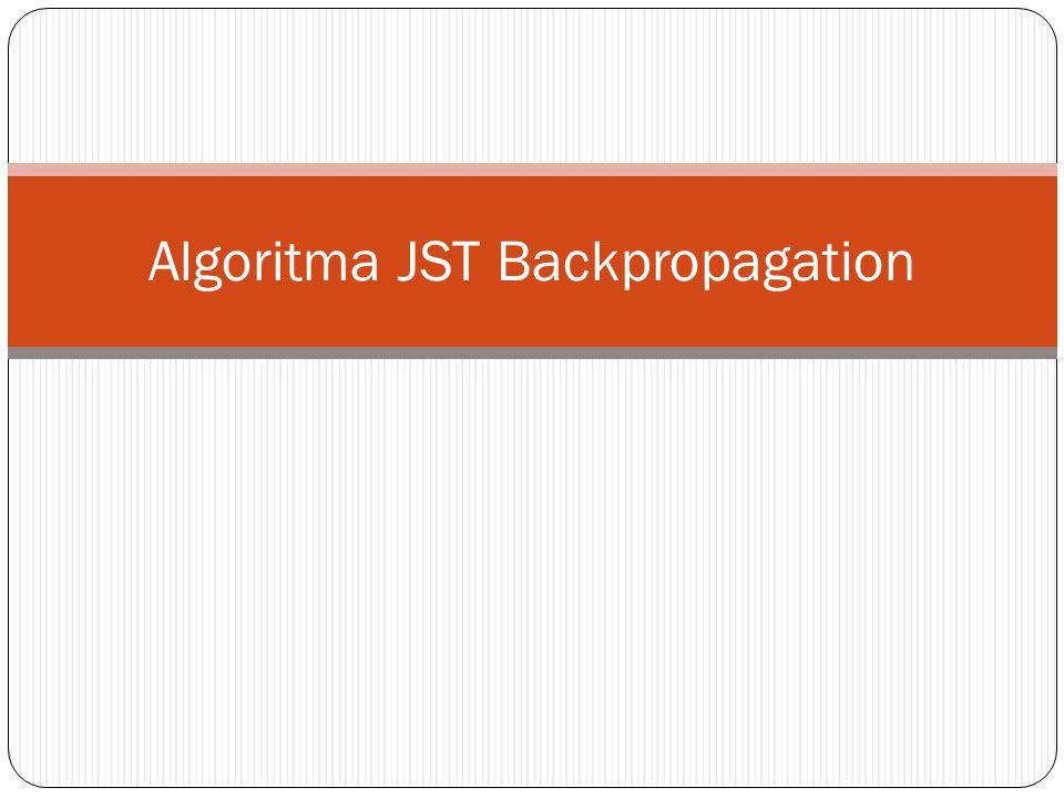 Algoritma JST Backpropagation