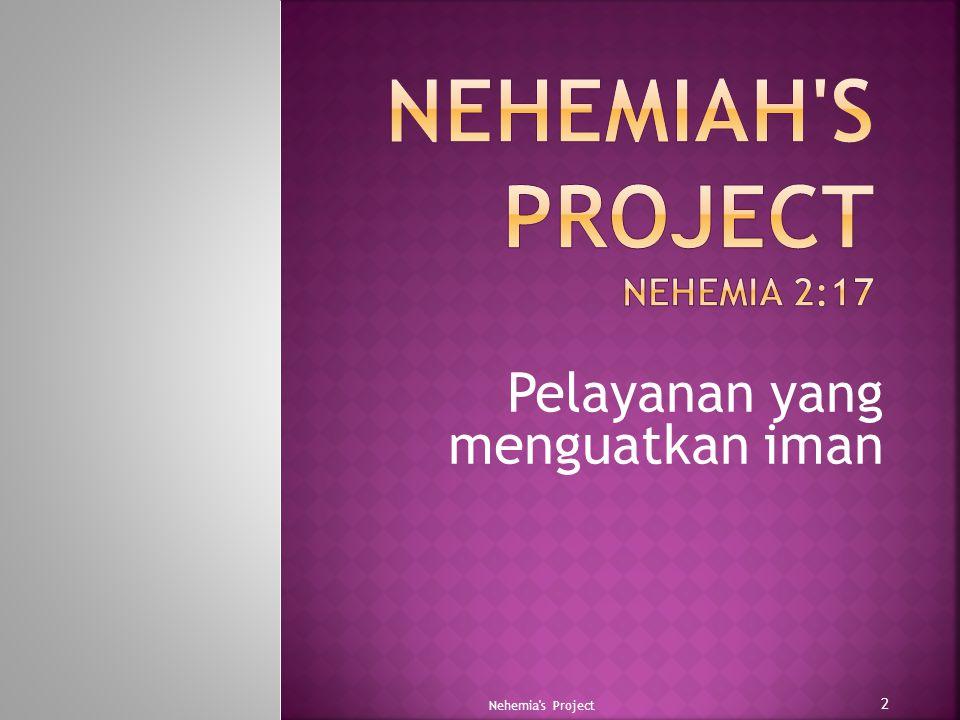  Semua orang yang telah diselamatkan, meskipun lemah dan bodoh (1 Korintus 1:26- 27) Nehemia s Project 13