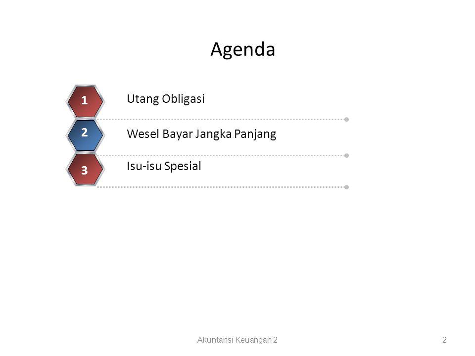 Agenda Akuntansi Keuangan 22 Utang Obligasi 1 Wesel Bayar Jangka Panjang 2 Isu-isu Spesial 3 4