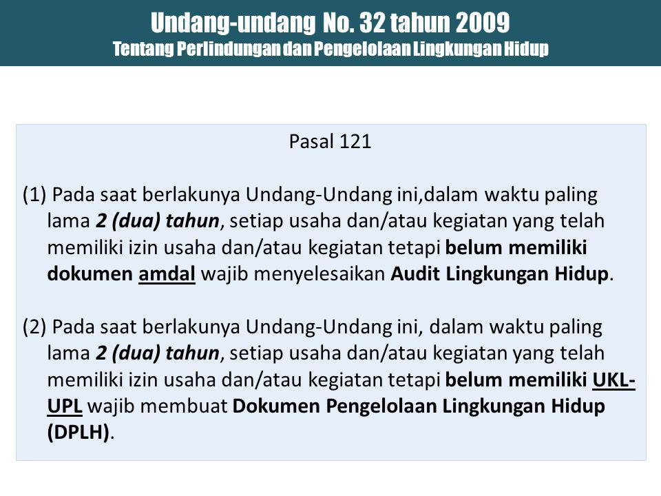 Isi SE-MENLH B1413-4/MENLH/KP/12/2013 Tanggal 27 Desember 2013 1.Target SEUsaha dan/atau Kegiatan yang sudah miliki izin usaha dan/atau kegiatan sebalum UU 32/2009 (Kriterianya Sesuai dengan Peraturan MENLH No.