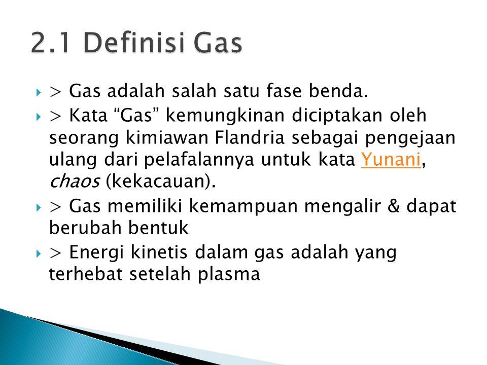 """ > Gas adalah salah satu fase benda.  > Kata """"Gas"""" kemungkinan diciptakan oleh seorang kimiawan Flandria sebagai pengejaan ulang dari pelafalannya u"""