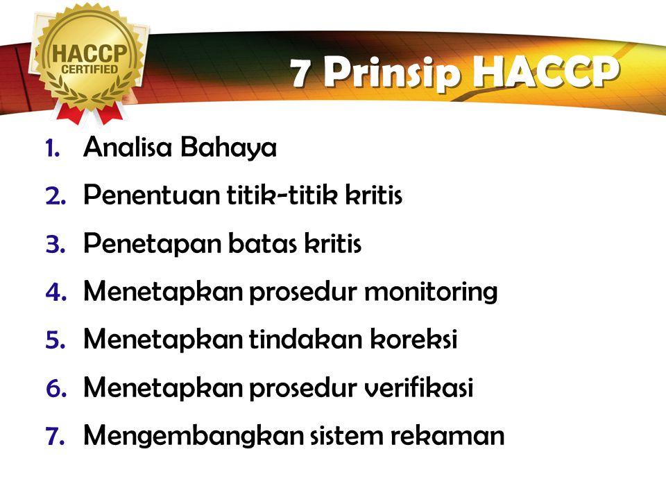 """LOGO Kegunaan HACCP  Mencegah penarikan makanan  Meningkatkan jaminan Food Safety  Pembenahan & """"pembersihan"""" unit pengolahan (produksi)  Mencegah"""