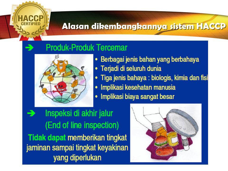 LOGO Alasan dikembangkannya sistem HACCP