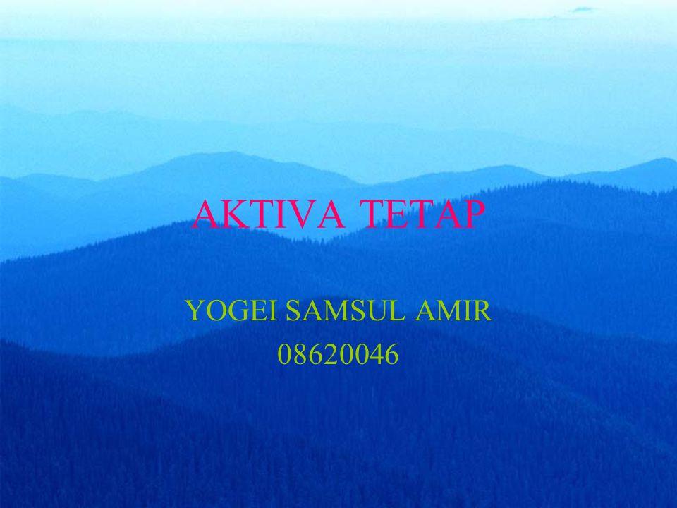 AKTIVA TETAP YOGEI SAMSUL AMIR 08620046