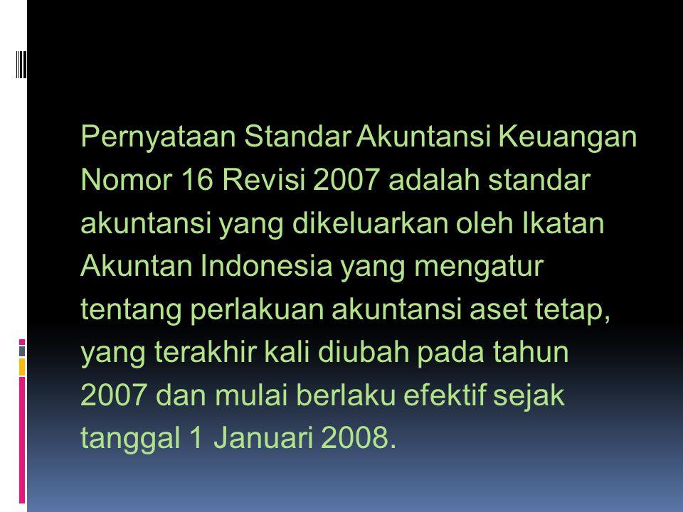 Pernyataan Standar Akuntansi Keuangan Nomor 16 Revisi 2007 adalah standar akuntansi yang dikeluarkan oleh Ikatan Akuntan Indonesia yang mengatur tenta