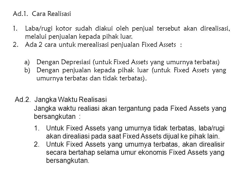 Laporan Keuangan Konsolidasi (Jual Beli Aktiva Tetap) Bentuknya dapat dikelompokkan 3 : 1.Fixed Asset Downstream Sales (Perusahaan Induk menjual aktiv