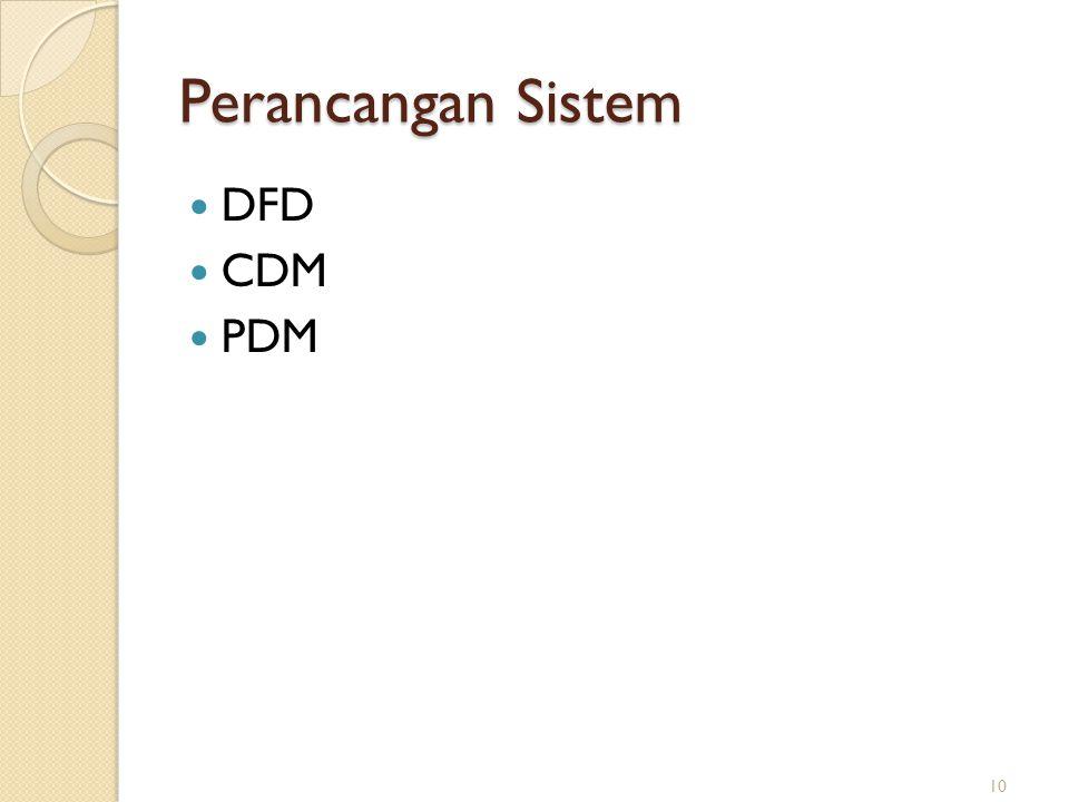 Perancangan Sistem DFD CDM PDM 10