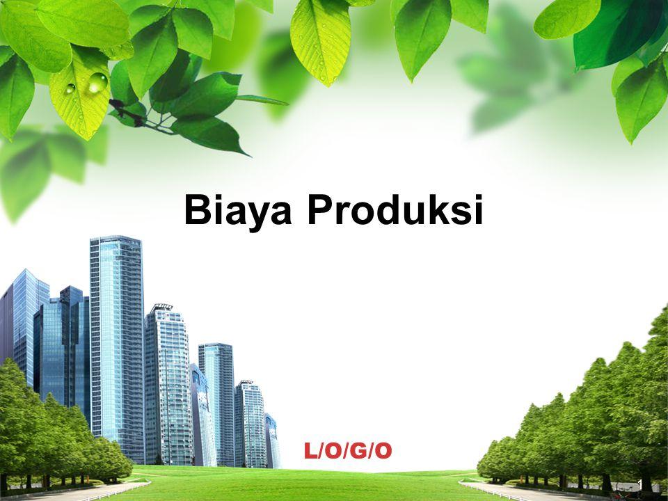 Pengantar Biaya produksi tidak dapat dipisahkan dari proses produksi sebab biaya produksi merupakan masukan atau input dikalikan dengan harganya.