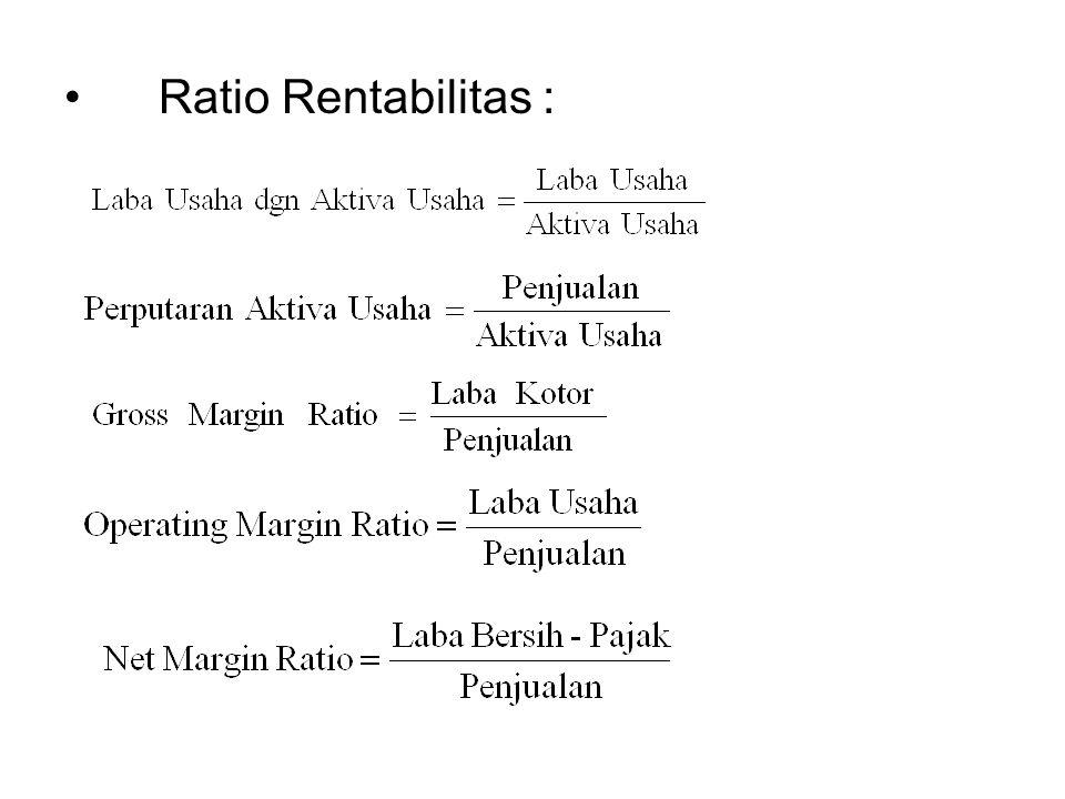 Ratio Rentabilitas :