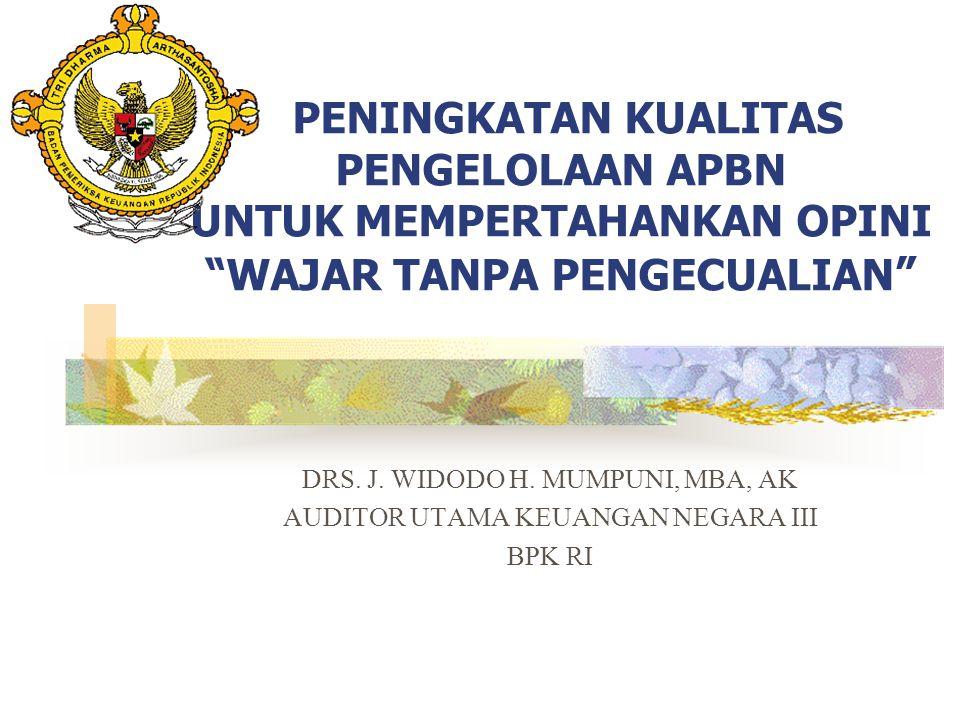 Opini 2008: WDP Wajar dengan pengecualian terhadap: 1.