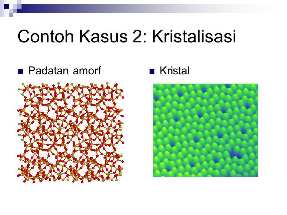 Contoh Kasus 2: Kristalisasi Padatan amorf Kristal