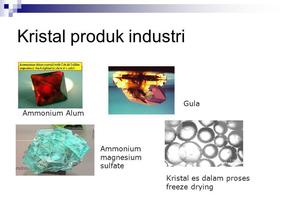 Kristal produk industri Ammonium Alum Gula Ammonium magnesium sulfate Kristal es dalam proses freeze drying