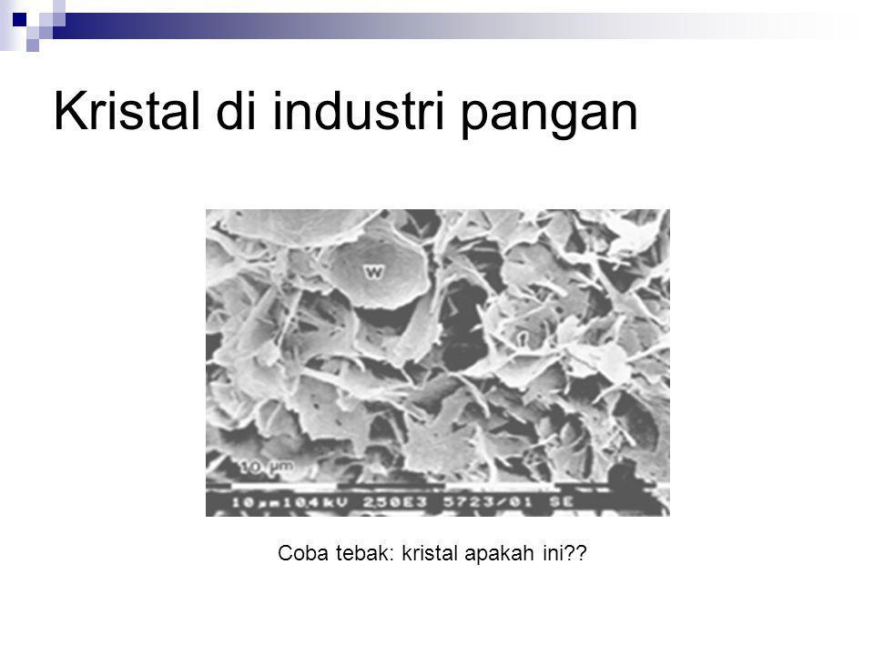 Kristal di industri pangan Coba tebak: kristal apakah ini??