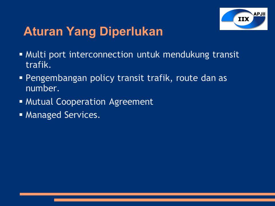 Aturan Yang Diperlukan  Multi port interconnection untuk mendukung transit trafik.