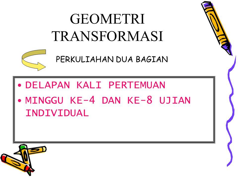 Contoh-contoh transformasi Dalam Bentuk Aljabar Perkawanan T: V  V dengan T(x,y)=(x+y,3x-y+2) merupakan transformasi.