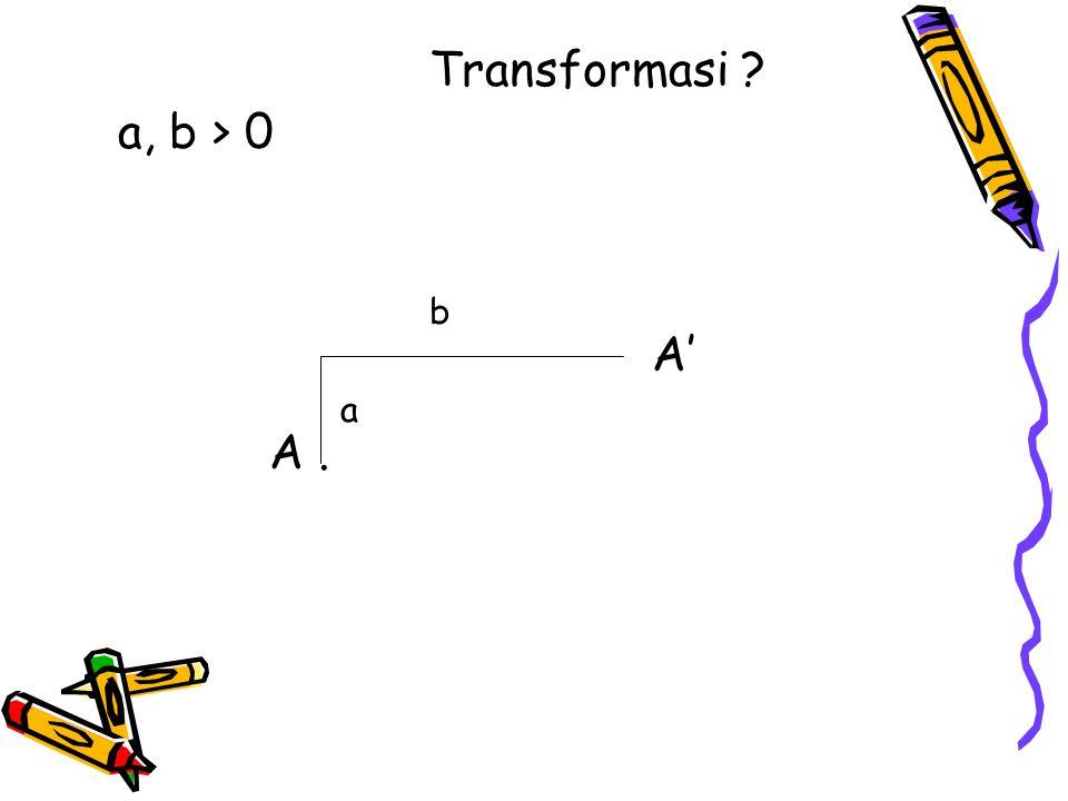 A. a, b > 0 a b A' Transformasi ?