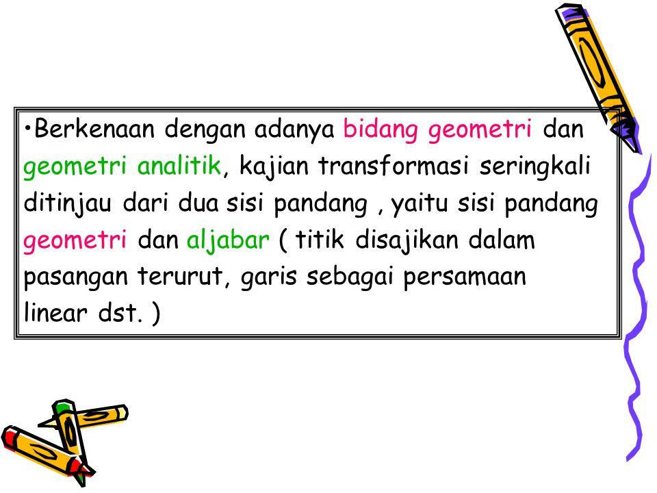 P=P'. A A' Transformasi? Q Q S. F.