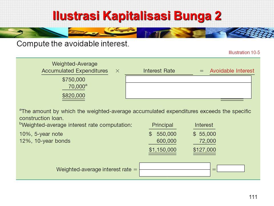 Compute the avoidable interest. Illustration 10-5 Ilustrasi Kapitalisasi Bunga 2 111