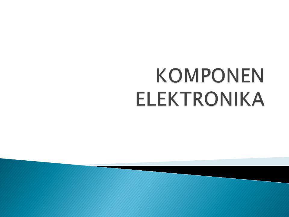  Kapasitor adalah suatu komponen elektronika yang dapat menyimpan dan melepaskan muatan listrik atau energi listrik.
