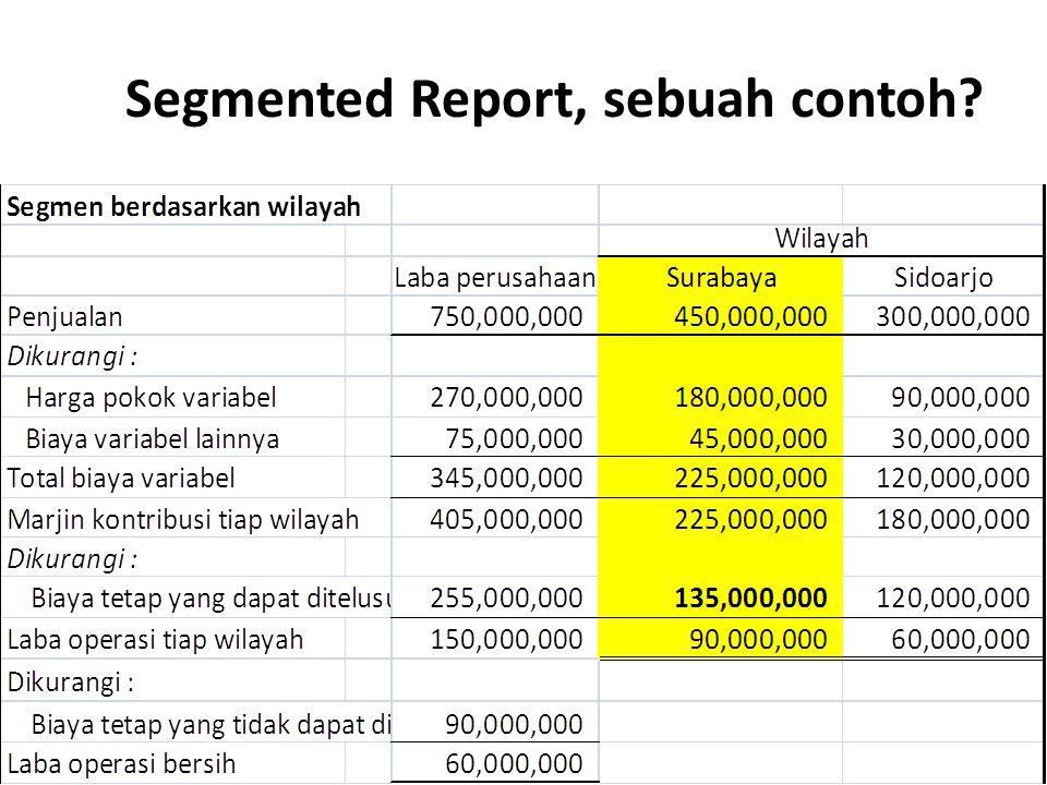 Segmented Report, sebuah contoh?