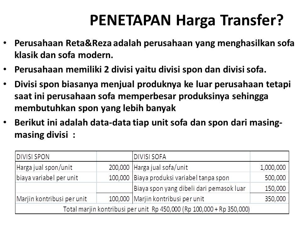PENETAPAN Harga Transfer.