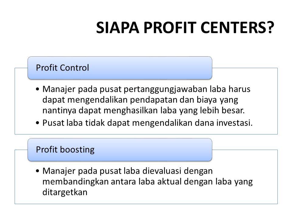 SIAPA PROFIT CENTERS.