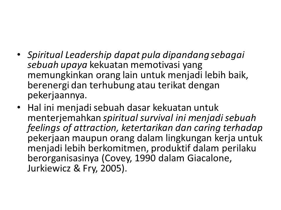 Nilai Altruis dalam Spiritual Leadership No.