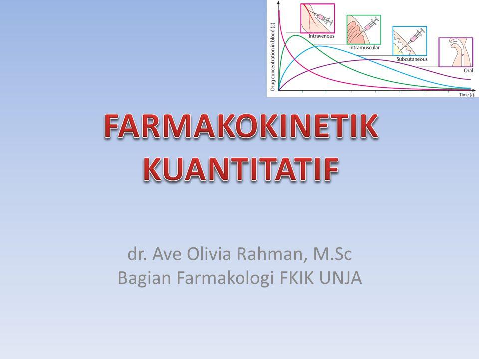 Faktor Akumulasi obat (F akum ) Ket :  K = kecepatan eliminasi first order   = interval pemberian obat  e –k.