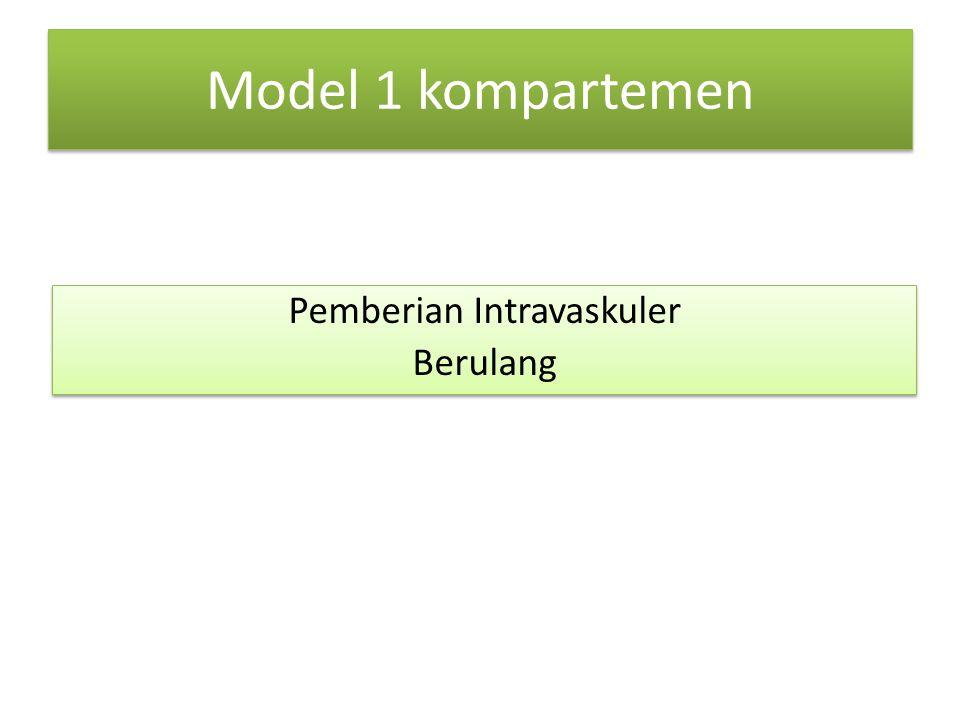 Model 1 kompartemen Pemberian Intravaskuler Berulang Pemberian Intravaskuler Berulang