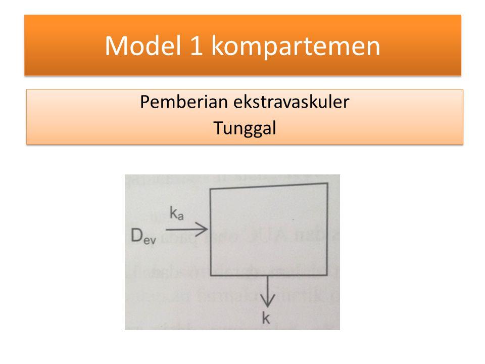 Model 1 kompartemen Pemberian ekstravaskuler Tunggal Pemberian ekstravaskuler Tunggal
