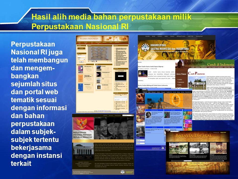 Pengadaan bahan perpustakaan elektronik (e-Resources) di Perpustakaan Nasional RI Sumberdaya informasi elektronik dapat berupa buku elektronik (e-book), jurnal elektronik (e-journal) atau dokumen lain dalam format eletronik.