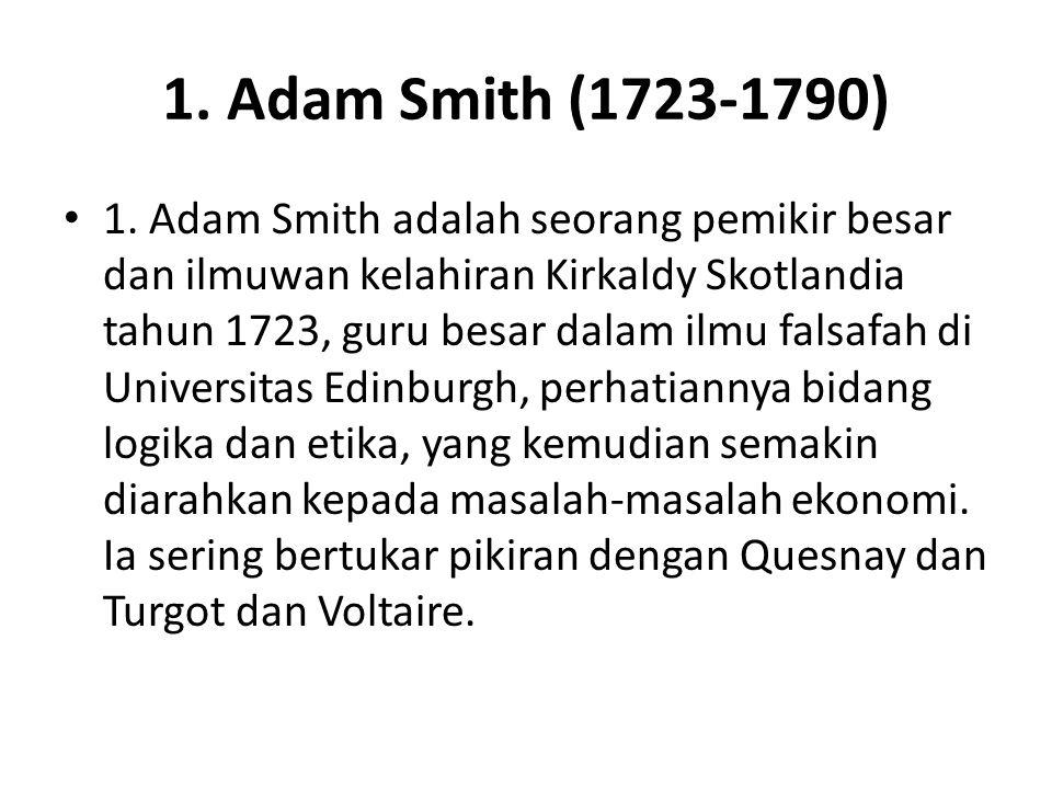 1.Adam Smith (1723-1790) 1.