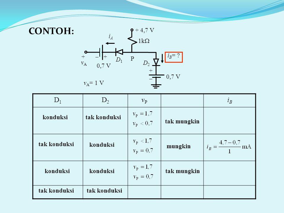 0,7 V i B = .