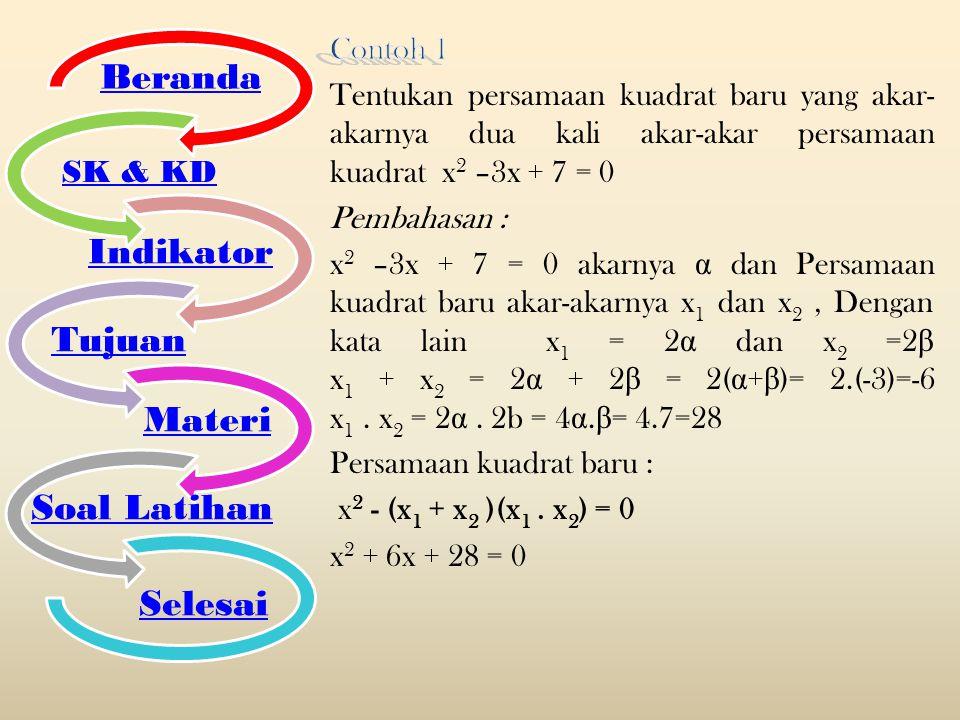 Beranda SK & KD Indikator Tujuan Materi Soal Latihan Selesai