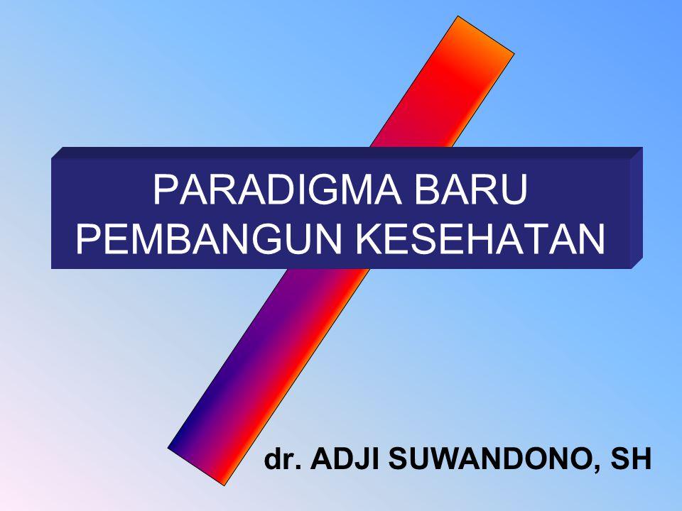 dr. ADJI SUWANDONO, SH PARADIGMA BARU PEMBANGUN KESEHATAN
