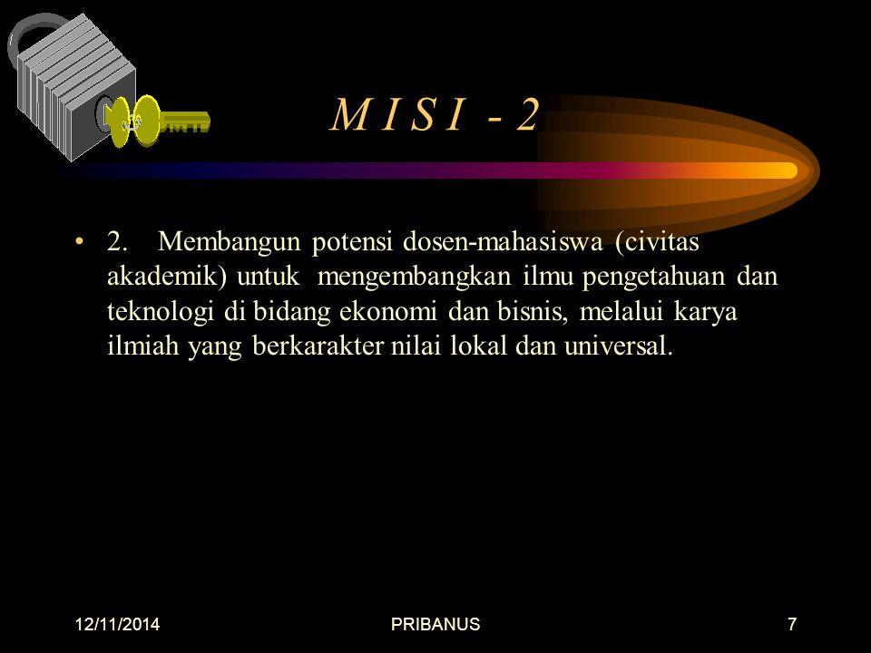 12/11/2014PRIBANUS7 M I S I - 2 2.