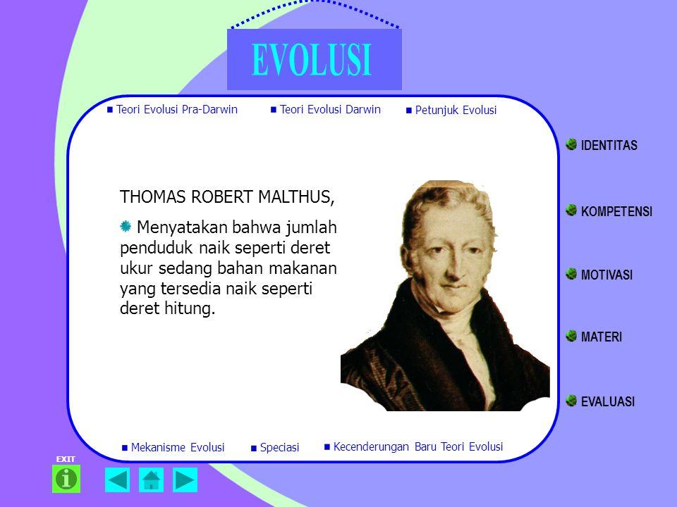 THOMAS ROBERT MALTHUS, Menyatakan bahwa jumlah penduduk naik seperti deret ukur sedang bahan makanan yang tersedia naik seperti deret hitung. EXIT Teo