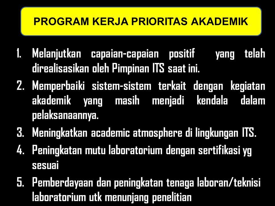 1.Melanjutkan capaian-capaian positif yang telah direalisasikan oleh Pimpinan ITS saat ini. 2.Memperbaiki sistem-sistem terkait dengan kegiatan akadem
