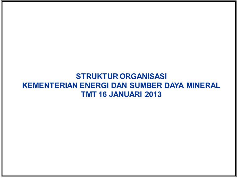 STRUKTUR ORGANISASI KEMENTERIAN ENERGI DAN SUMBER DAYA MINERAL TMT 16 JANUARI 2013