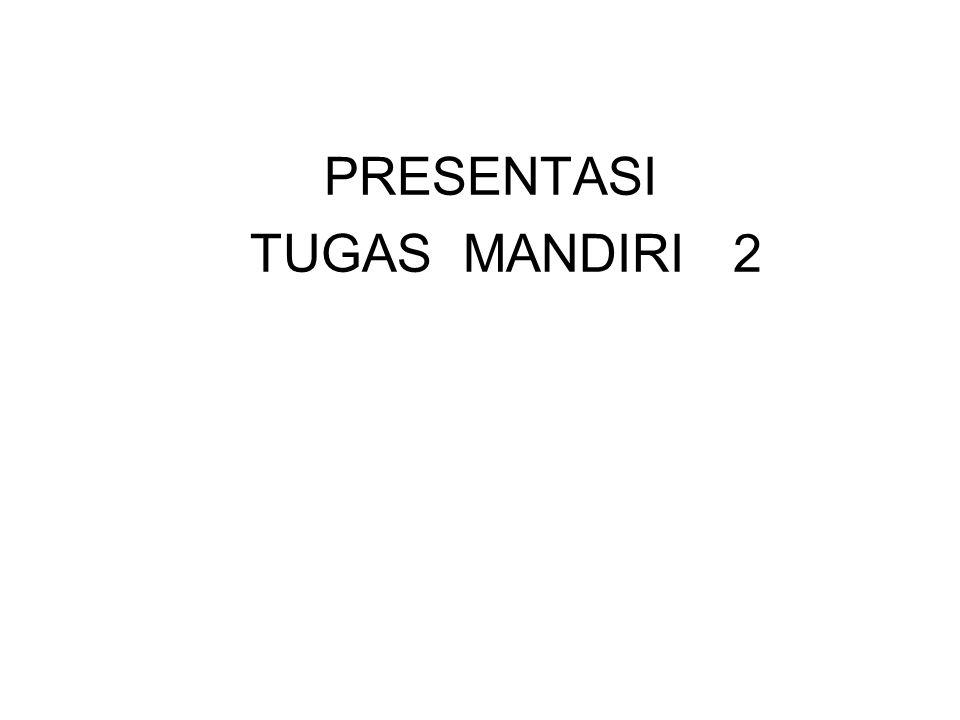 PRESENTASI TUGAS MANDIRI 2