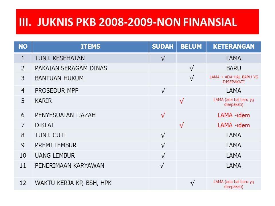III. JUKNIS PKB 2008-2009-NON FINANSIAL NOITEMSSUDAHBELUMKETERANGAN 1TUNJ.