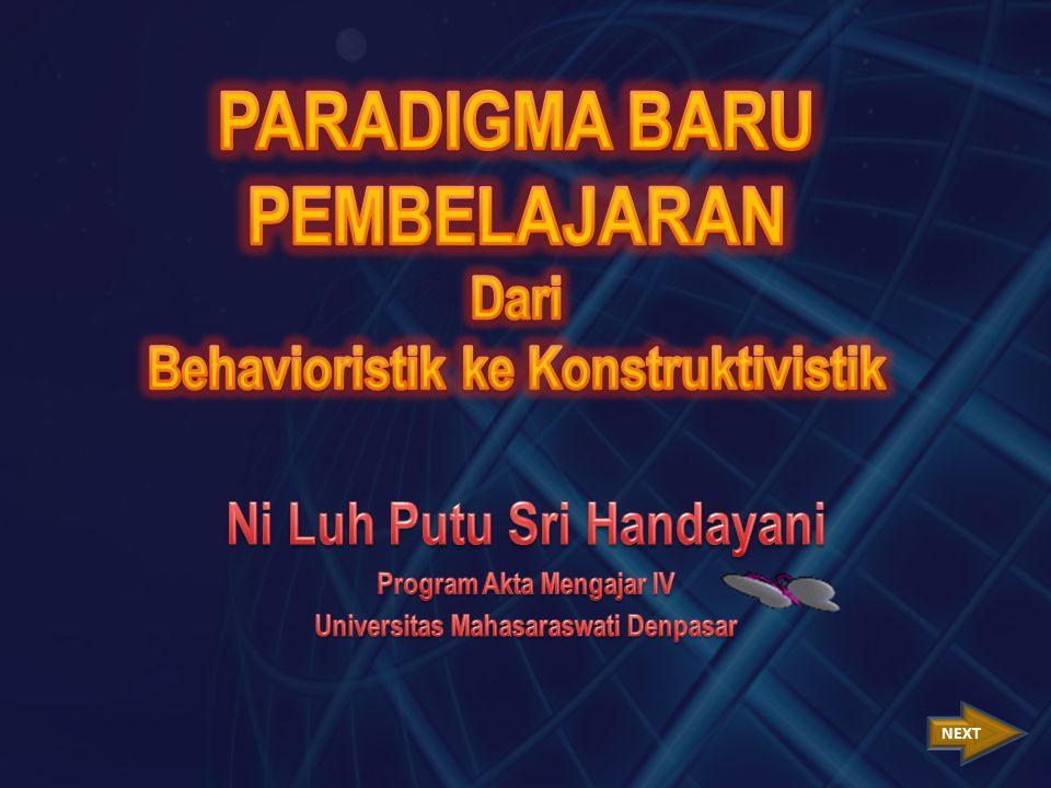 1.Pengetahuan dibangun oleh siswa sendiri.