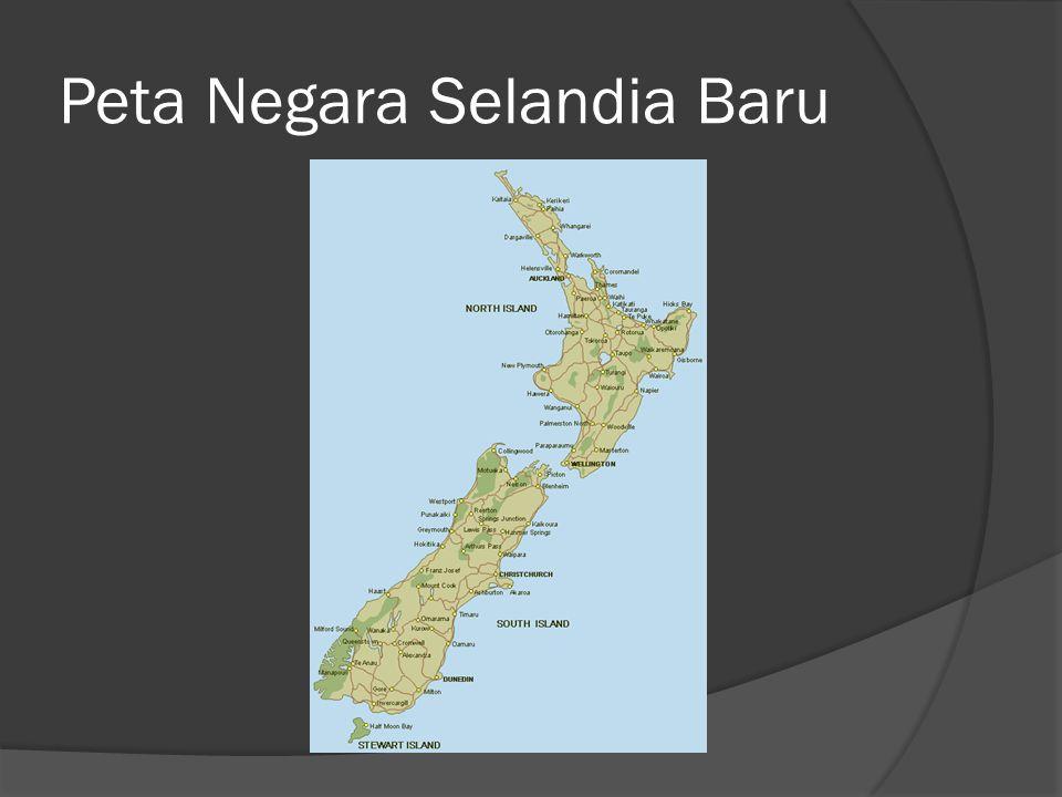 Peta Negara Selandia Baru