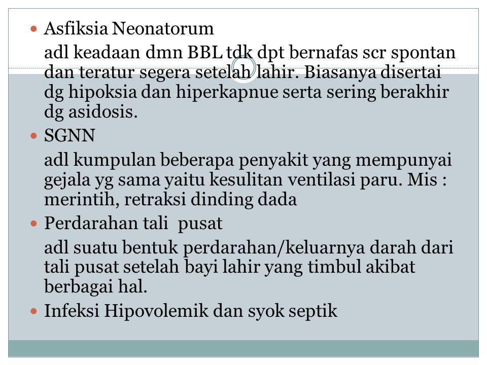 Penyakit tropik dan infeksi : a.Morbilie. Tetanus b.