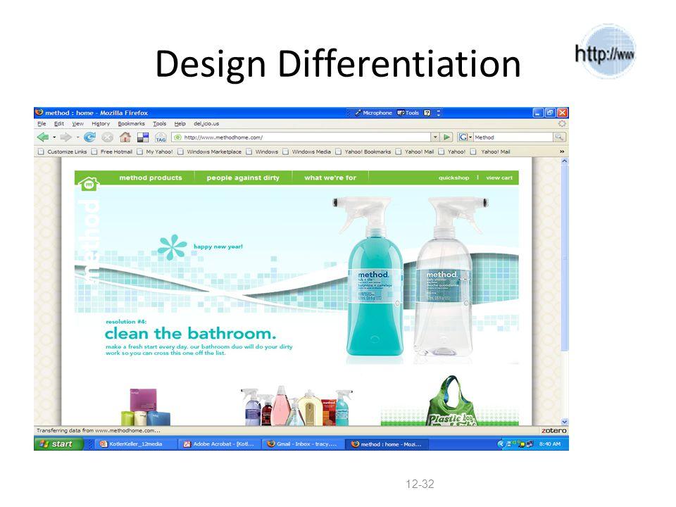 Design Differentiation 12-32
