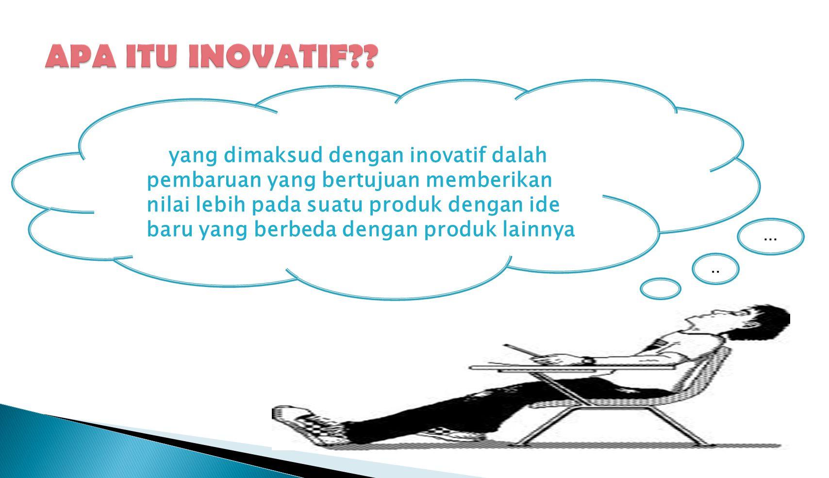 Lima jenis inovasi yang penting dilakukan pengusaha Lima jenis inovasi yang penting dilakukan pengusaha 1.