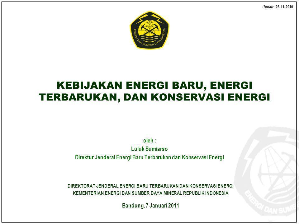 Kementerian Energi dan Sumber Daya Mineral Direktorat Jenderal Energi Baru Terbarukan dan Konservasi Energi © EBTKE KESDM - 2010 oleh : Luluk Sumiarso