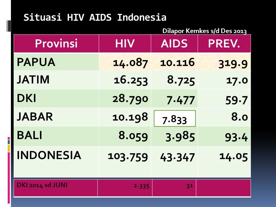 Situasi HIV AIDS Indonesia ProvinsiHIVAIDSPREV.