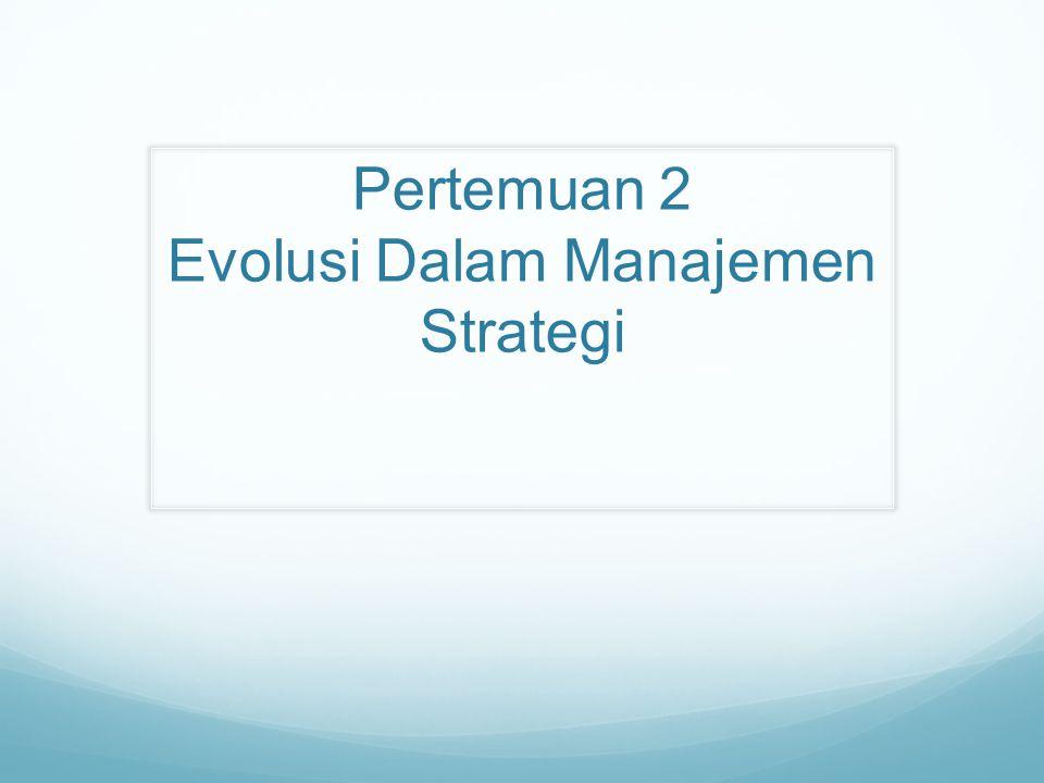 Dalam Manajemen Strategi ada 10 hal yang menjadi tujuan (Mazhab): Desain Perencanaan Positioning Kewirausahaan Kognitif Pembelajaran Kekuatan Budaya Lingkungan Konfigurasi